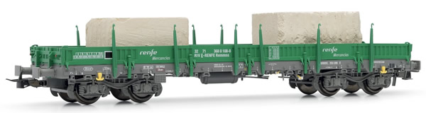 Electrotren E5192 - Low side wagon RENFE, type Rmmns, loaded with 2 marble blocks