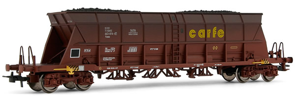 """Electrotren E5726 - Weathered hopper wagon """"Carfe"""", with coal load"""