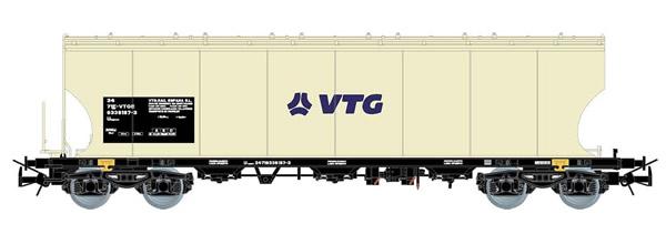 Electrotren E6539 - VTG Rail España, 4-axle silo wagon with round-sided walls