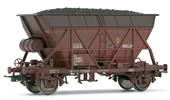 Tank wagon, 2 axles weathered with coal load, RENFE