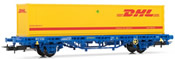 "MC1 Wagon, type Lgs, loaded with container ""DHL"""
