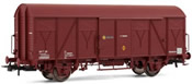 Closed wagon  J- oxide red, RENFE