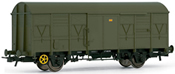 Closed wagon  ORE RENFE, military livery