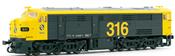 Locomotive 316 yellow & grey, 1601, RENFE    AC Digital