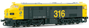 Locomotive 316 yellow & grey, 1601, RENFE   AC Digital   with Sound