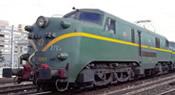 Spanish Electric Locomotive 277 con raya amarilla of the RENFE