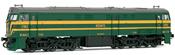 Locomotive 321.063 green & yellow