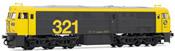 Spanish Diesel Locomotive 321.025 of the RENFE