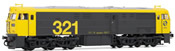 Spanish Diesel Locomotive 321.025 of the RENFE (DCC Sound Decoder)