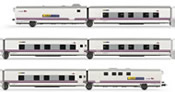 Spanish 6pc Coach Set Train Hotel Talgo Elipsos of the Renfe-SNCF