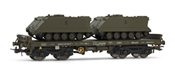 Low side wagon green, type Rmms, loaded with 2 APC