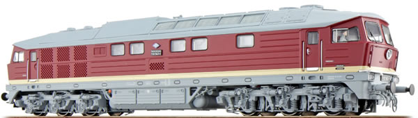 ESU 31163 - German Diesel Locomotive 132 547 of the DR, Bordeaux-red (Sound Decoder and Smoke)