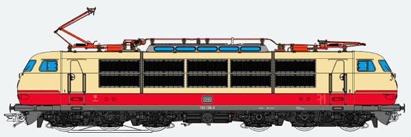 ESU 31171 - German Electric Locomotive 103 198 of the DB (Sound Decoder)