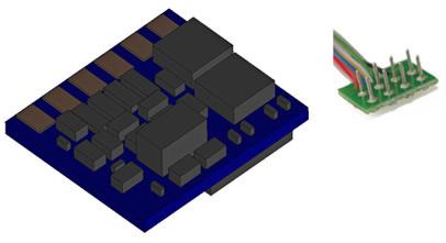 ESU 53661 - Super Small DDC Decoder 0.75A 8-pin