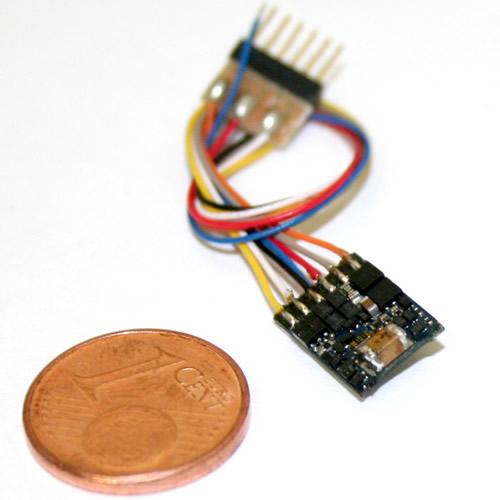 ESU 54684 - LokPilot micro V4.0, DCC, 6-pin NEM651 with cable