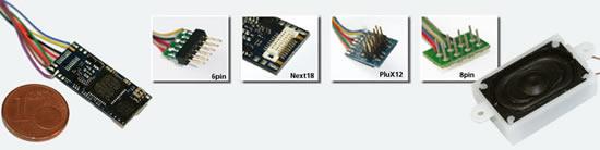ESU 56899 - LokSound micro V4.0 Universal sound for self-programming, with 8-pol. NEM652