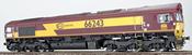 Diesel Locomotive Class 66 ECR 66243 (Sound Decoder)