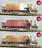 Freight car, Pullman IIm, Hopper car set of the RHB (8657,8658,8659)