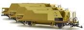 Hopper car set (Fd 8660, Fd 8662, Fd 8663), RhB, yellow