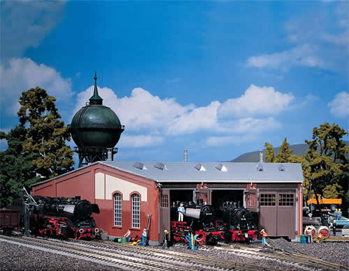 Faller 120177 - 3-Stall engine roundhouse (long type)
