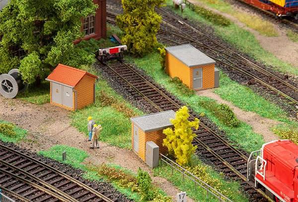 Faller 120266 - 3 Substations, brick construction
