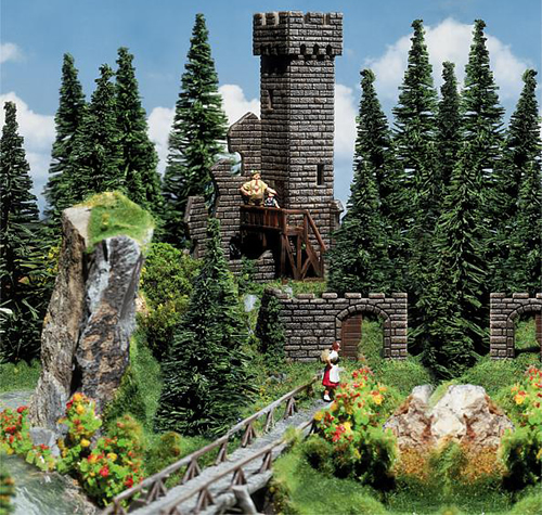 Faller 130285 - Castle tower ruins
