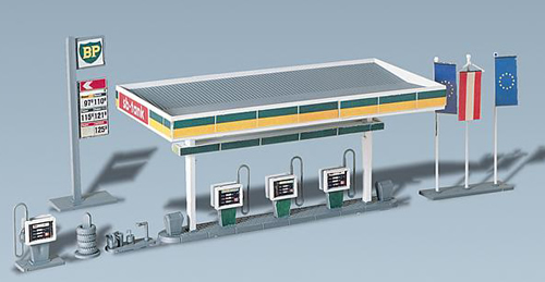 Faller 130346 - Covered petrol pumps