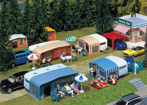Faller 130503 - Set of camping caravans