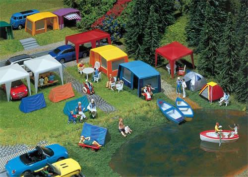 Faller 130504 - Set of camping tents