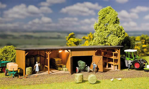 Faller 130523 - Hay bale store with workshop