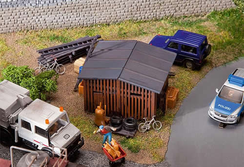 Faller 130524 - Shed with accessories