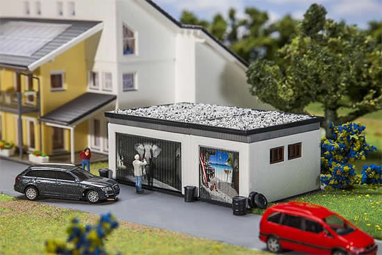 Faller 130620 - Double garage with drive components