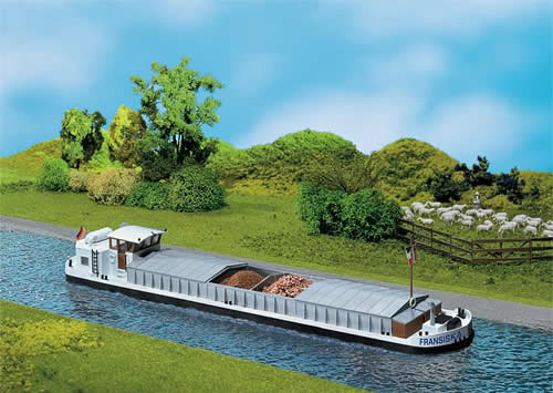 Faller 131006 - River cargo boat with dwelling cabin