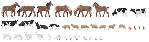 Faller 150938 - 36 Animals on the farm