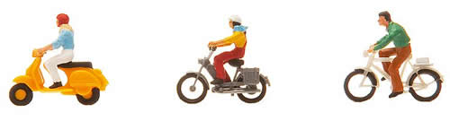 Faller 151079 - Cyclist and moped rider