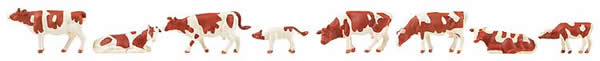 Faller 151903 - Cows, brown flecked