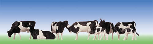 Faller 154003 - Cows, black-spotted