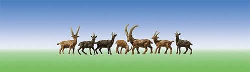 Faller 154009 - 4 Chamois + 6 Ibexes
