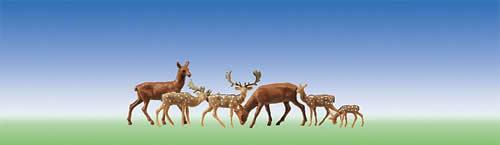 Faller 155509 - Fallow deer + red deer, 12 pieces