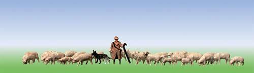 Faller 158051 - Sheep + shepherd