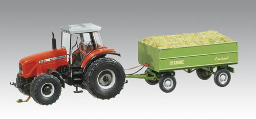 Faller 161536 - MF Tractor with trailer (WIKING)