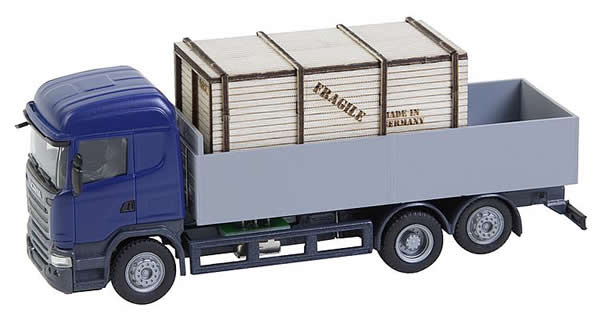 Faller 161597 - Lorry Scania R 13 HL Platform with wooden crate (HERPA)