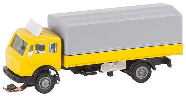 Faller 162052 - Lorry MB SK Platform/Tarpaulin (WIKING)