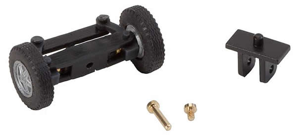 Faller 163007 - Front axle, completely assembled for Ford Transit (with wheels)
