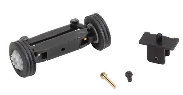 Faller 163012 - Front axle, completely assembled for lorries 7.5 t. (with wheels)