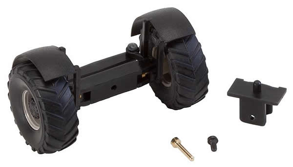 Faller 163013 - Front axle, completely assembled for tractors (with wheels)