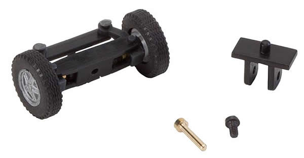 Faller 163014 - Front axle, completely assembled for TT bus (with wheels)