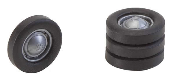 Faller 163105 - 4 wheels with rims and tyres (e.g. for VW van)