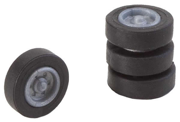 Faller 163107 - 4 tyres and rims for N lorries