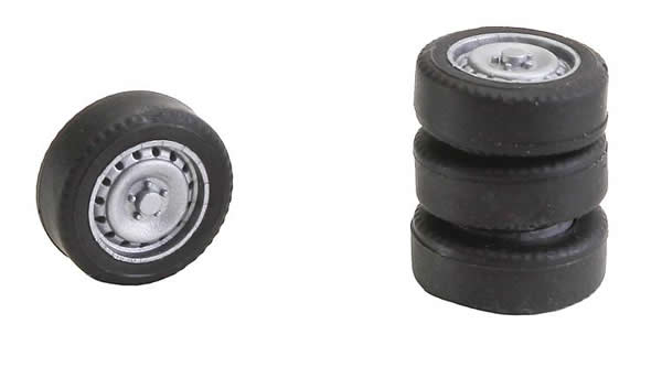 Faller 163108 - 4 tyres and rims for Sprinter / T5